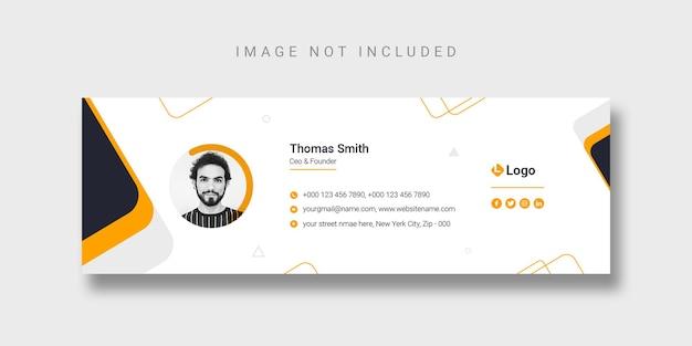 Modelo de design de assinatura de email ou modelo de capa do facebook