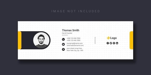 Modelo de design de assinatura de email ou modelo de capa do facebook Psd grátis