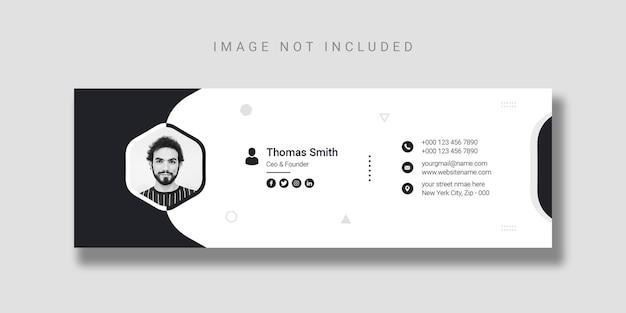 Modelo de design de assinatura de email ou modelo de página de capa do facebook
