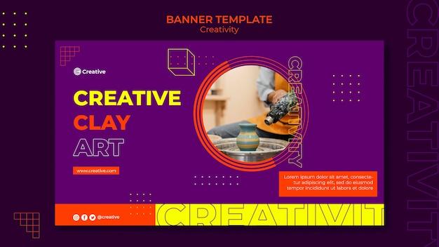 Modelo de design de banner criativo e imaginativo