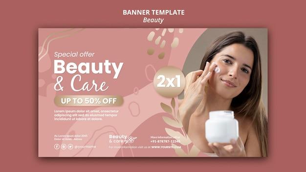 Modelo de design de banner de beleza