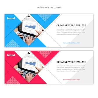 Modelo de design de banner de capa de facebook corporativo