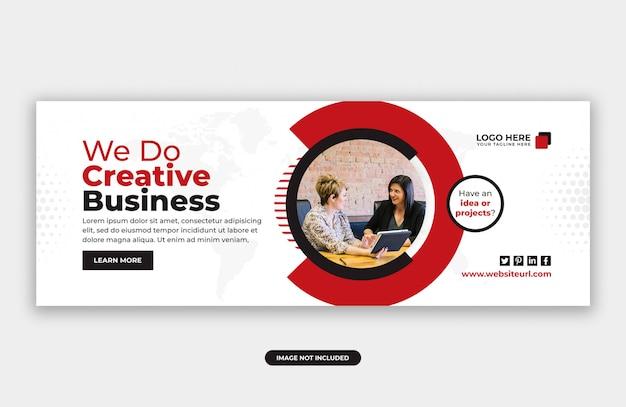 Modelo de design de banner de capa de facebook de marketing de negócios criativos