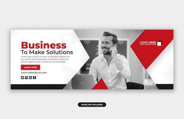 Modelo de design de banner de capa de facebook marketing de negócios