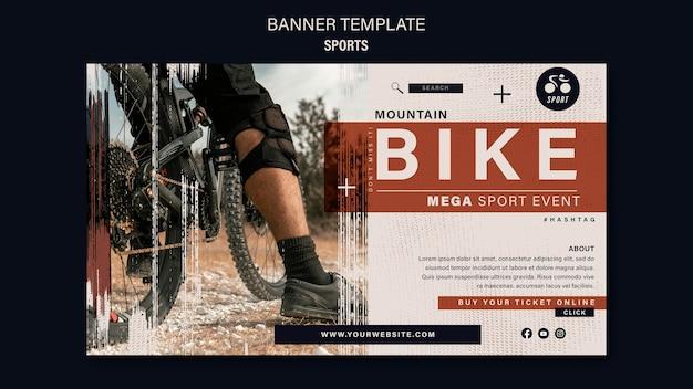 Modelo de design de banner de esporte de bicicleta
