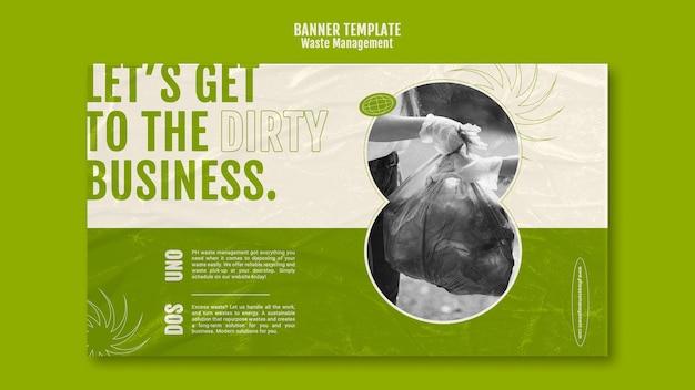 Modelo de design de banner de gerenciamento de resíduos