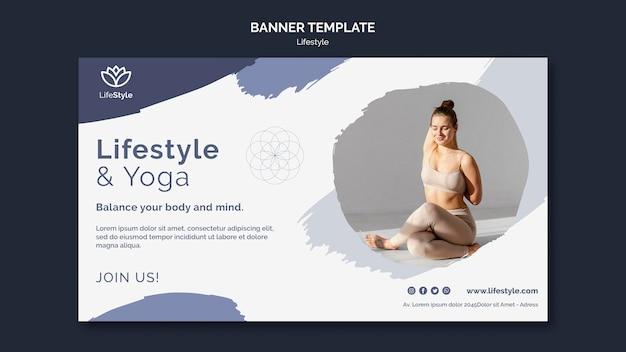 Modelo de design de banner de ioga