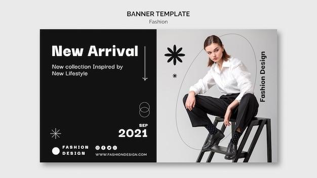 Modelo de design de banner de moda
