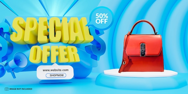 Modelo de design de banner de venda de oferta especial