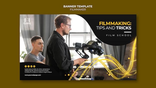Modelo de design de banner do cineasta