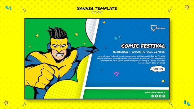 Modelo de design de banner em quadrinhos