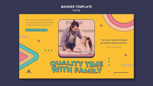 Modelo de design de banner familiar
