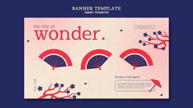 Modelo de design de banner inspirado no japão