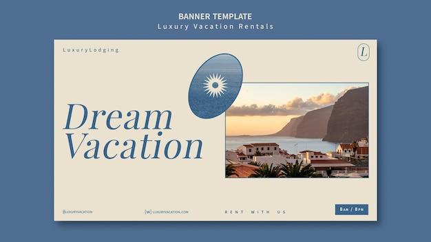 Modelo de design de banner para aluguel por temporada de luxo