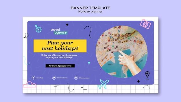 Modelo de design de banner para planejador de eventos