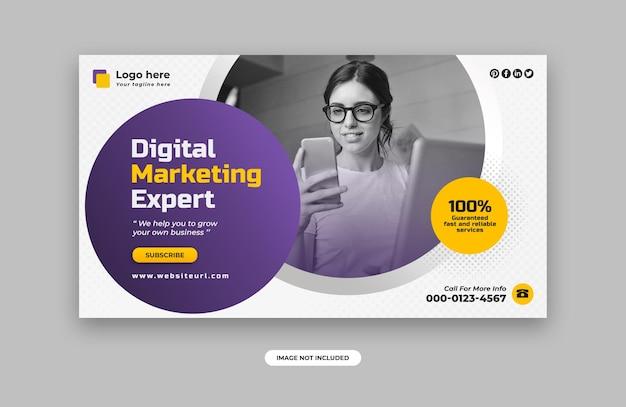 Modelo de design de banner web de marketing digital