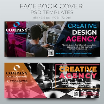 Modelo de design de capa de timeline do facebook corporativo