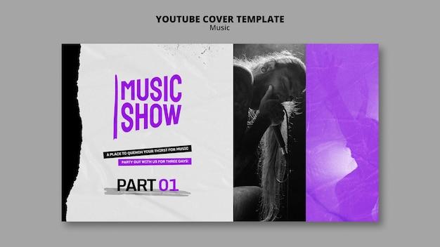 Modelo de design de capa do youtube para show de música