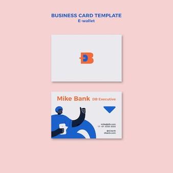 Modelo de design de cartão de visita de carteira eletrônica