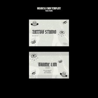 Modelo de design de cartão de visita de estúdio de tatuagem