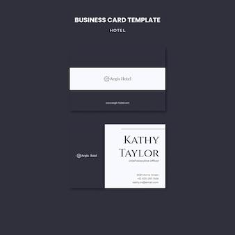 Modelo de design de cartão de visita de hotel