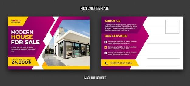 Modelo de design de cartão postal imobiliário