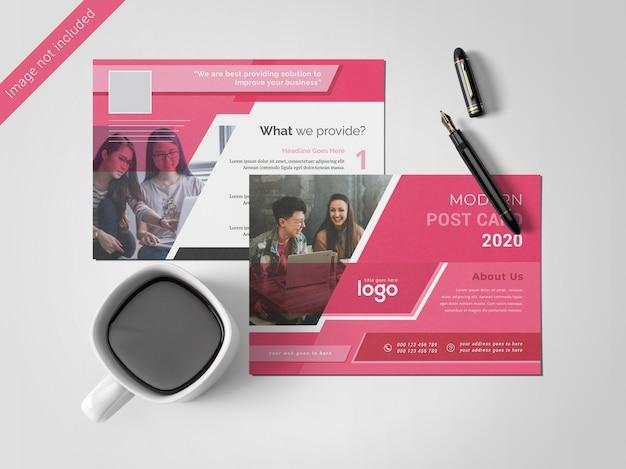 Modelo de design de cartão postal