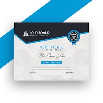 Modelo de design de certificado