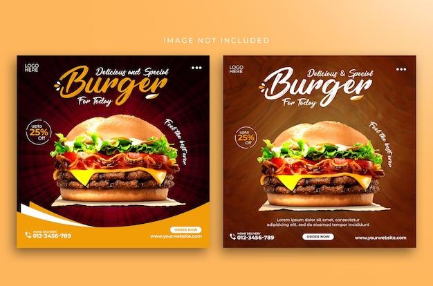 Modelo de design de comida do instagram