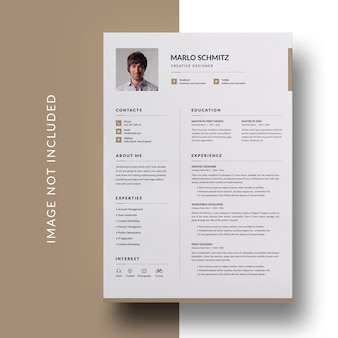 Modelo de design de currículo mínimo e mínimo