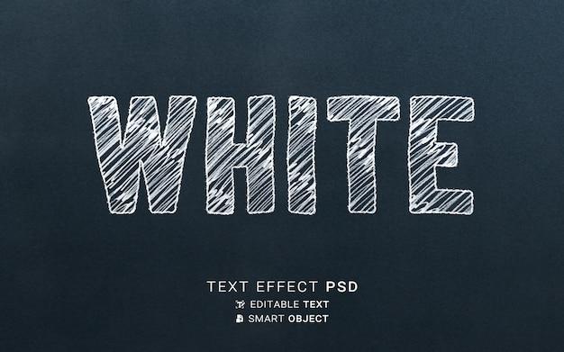 Modelo de design de efeito de texto branco