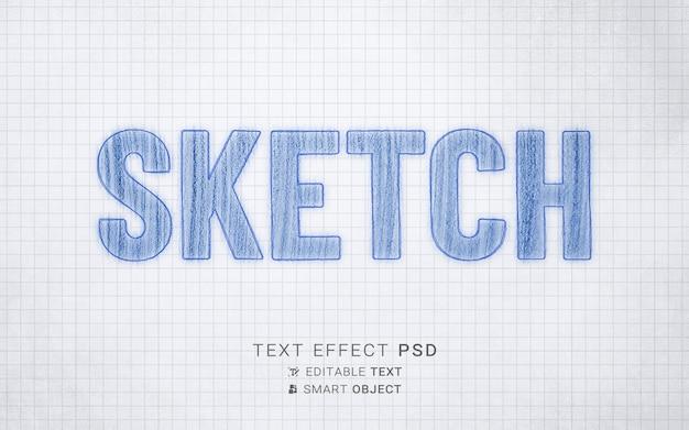 Modelo de design de efeito de texto de esboço