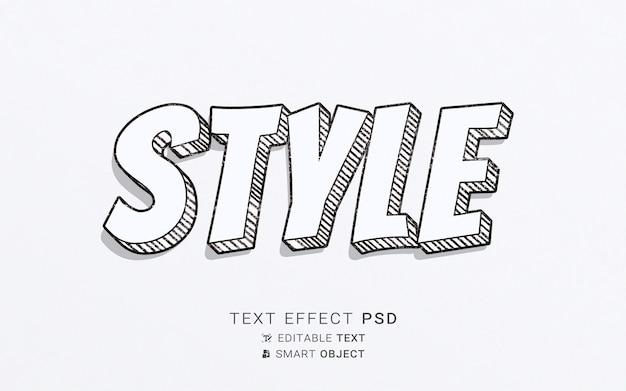 Modelo de design de efeito de texto de estilo