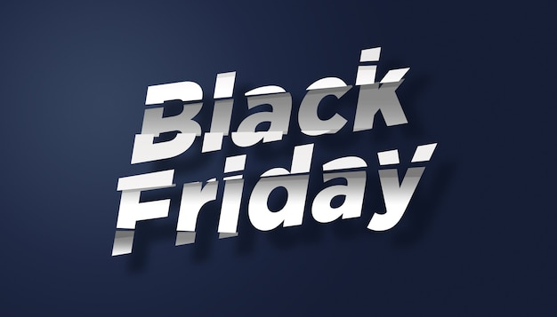 Modelo de design de efeito de texto de venda da black friday