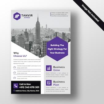 Modelo de design de folheto corporativo moderno