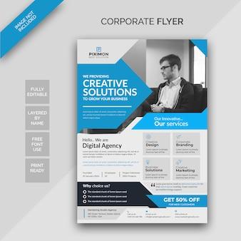 Modelo de design de folheto corporativo