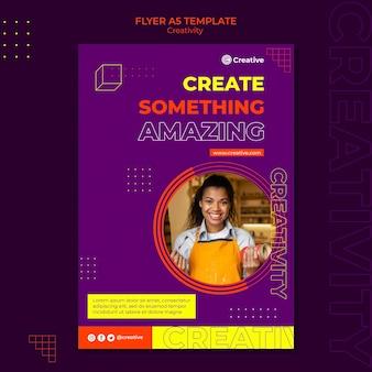 Modelo de design de folheto criativo e imaginativo