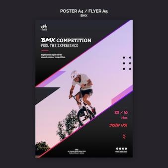 Modelo de design de folheto de competição bmx