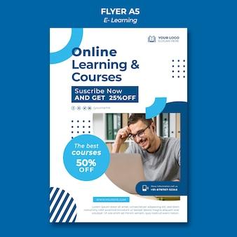 Modelo de design de folheto de e-learning