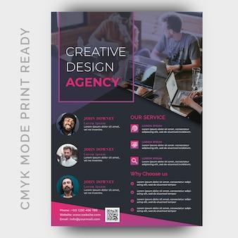 Modelo de design de folheto de negócios agência moderna