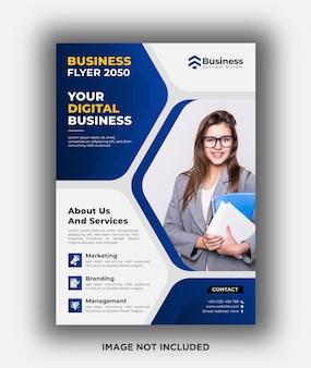 Modelo de design de folheto de negócios digital