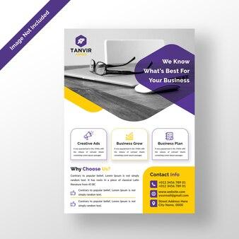 Modelo de design de folheto empresarial moderno psd
