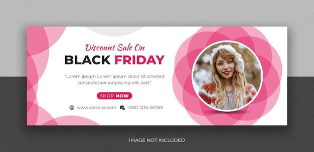 Modelo de design de foto de capa do facebook black friday fashion sale