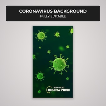 Modelo de design de fundo de histórias de instagram de coronavírus
