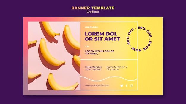 Modelo de design de gradiente de banner