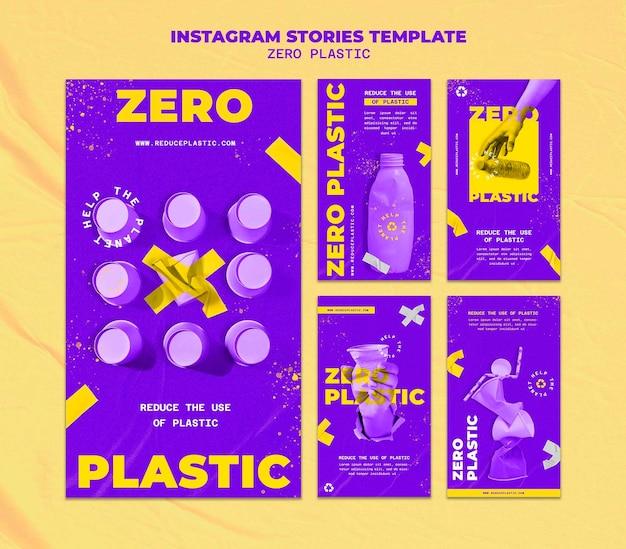 Modelo de design de história insta plástico zero