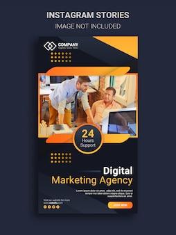 Modelo de design de histórias do instagram da agência de marketing de negócios digitais