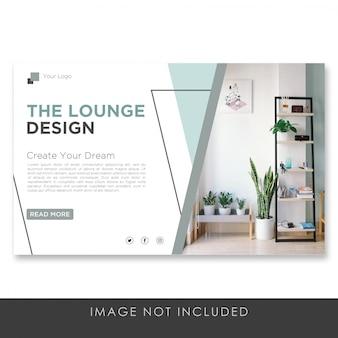 Modelo de design de interiores de banner