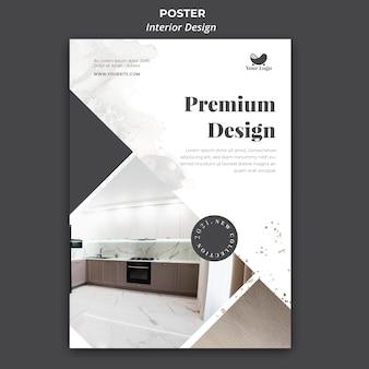 Modelo de design de interiores de folheto