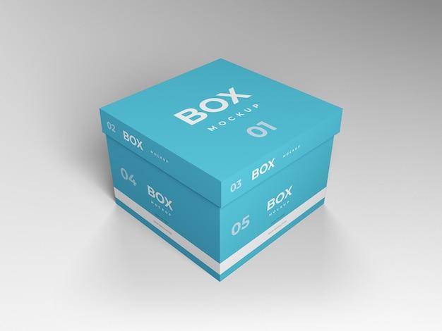 Modelo de design de maquete de caixa